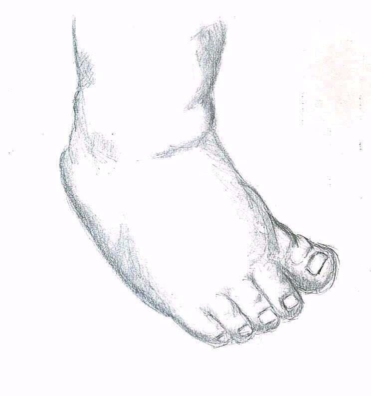 how to draw realistic feet
